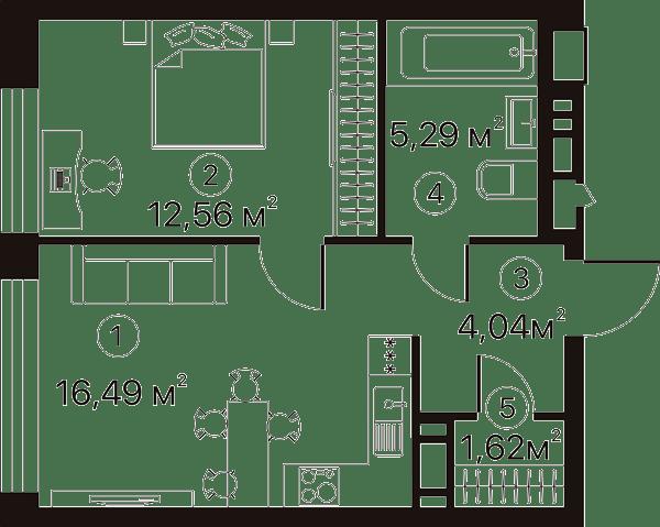План квартиры Terracotta